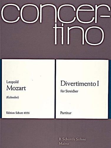 Divertimento Nr. 1 - Partitur - Leopold Mozart - laflutedepan.com
