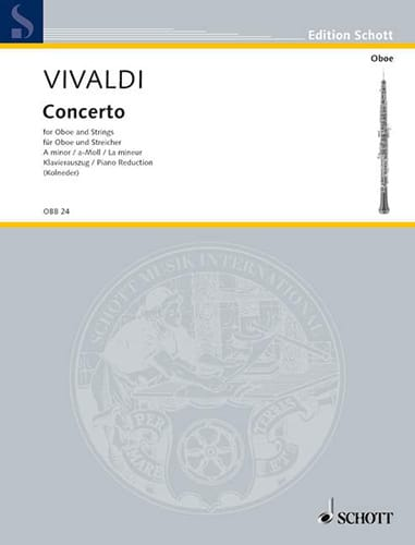 VIVALDI - Concerto in A minor PV 42- RV 461 - Oboe and piano - Partition - di-arezzo.co.uk