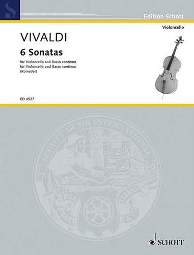 VIVALDI - 6 Sonatas - Violoncelle - Partition - di-arezzo.fr