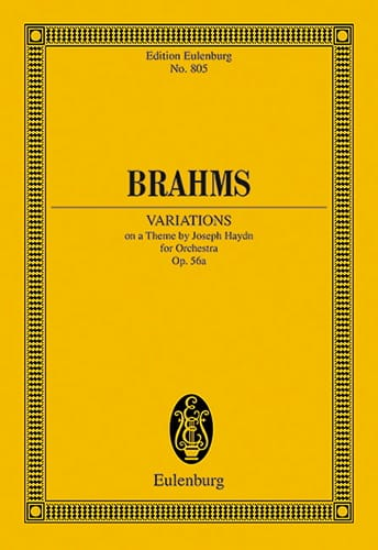 BRAHMS - Variationen Op. 56a - Partition - di-arezzo.co.uk