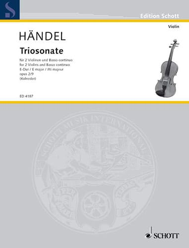 Triosonate E-Dur, op. 2 Nr. 9 -2 Violinen u. Bc - laflutedepan.com