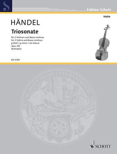 HAENDEL - Triosonate g-moll op. 2 Nr. 6 - Stimmen - Partition - di-arezzo.com