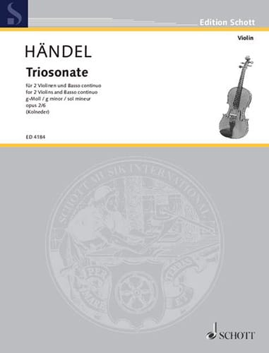 Triosonate g-moll op. 2 Nr. 6 -Stimmen - HAENDEL - laflutedepan.com