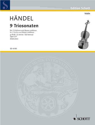 HAENDEL - Triosonate g-moll, op. 2 Nr. 7 - Stimmen - Partition - di-arezzo.com