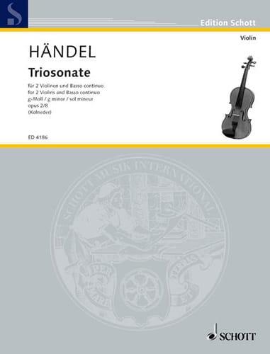 HAENDEL - Triosonate g-moll, op. 2 n ° 8 - Stimmen - Partition - di-arezzo.com