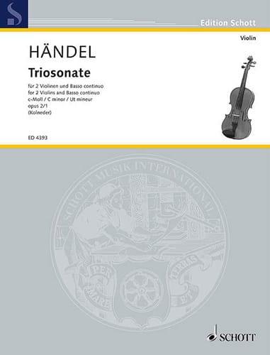 HAENDEL - Triosonate c-moll op. 2 Nr. 1 - Stimmen - Partition - di-arezzo.com