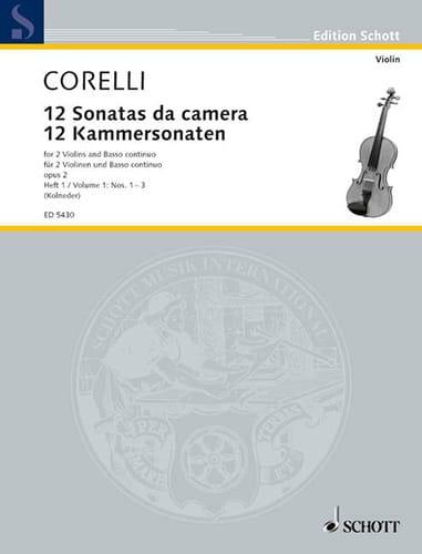 CORELLI - 12 Kammersonaten op. 2 - Bd. 1 - 2 Violinen u. Bc - Partition - di-arezzo.com