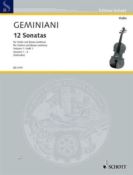 Francesco Saverio Geminiani - 12 Sonaten, Bd 1 - Partition - di-arezzo.it