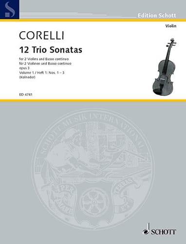 CORELLI - 12 Triosonaten op. 3 - Bd. 1: Nr. 1-3 - 2 Violinen u. Bc - Partition - di-arezzo.com