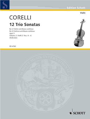 12 Triosonaten op. 3 - Bd. 2 : Nr. 4-6 -2 Violinen u. Bc - laflutedepan.com