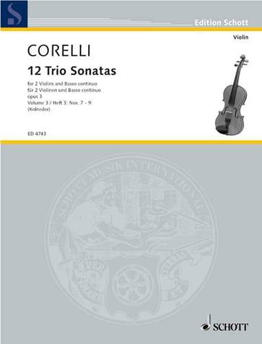 CORELLI - 12 Triosonaten op. 3 - Bd. 3: Nr. 7-9 - 2 Violinen u. Bc - Partition - di-arezzo.com