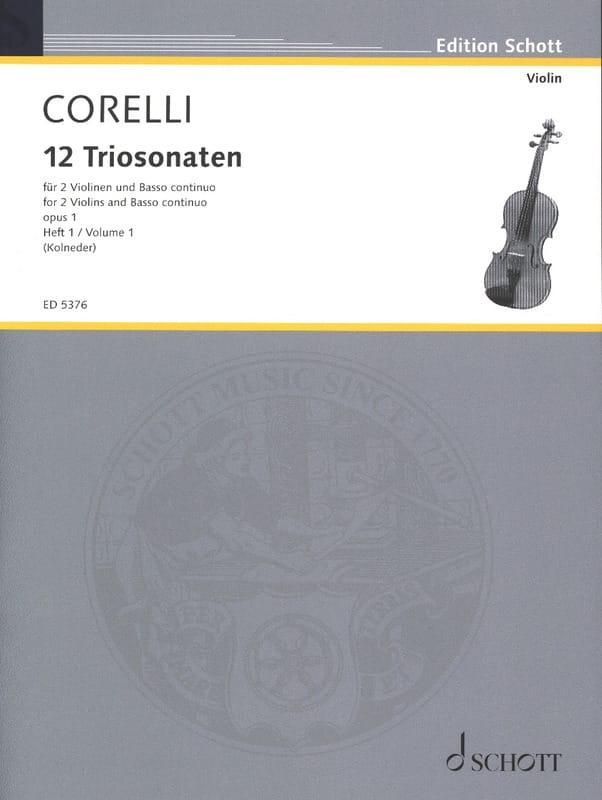 12 Triosonaten op. 1 - Bd. 1 : Nr. 1-4 -2 Violinen u. Bc - laflutedepan.com