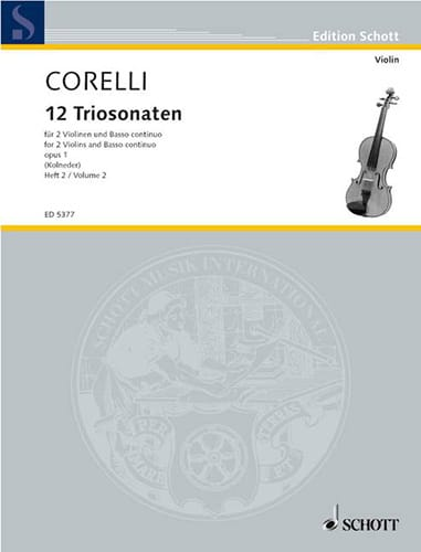 CORELLI - 12 Triosonaten Op. 1 Vol.2: Nr. 4-6 - Partition - di-arezzo.co.uk