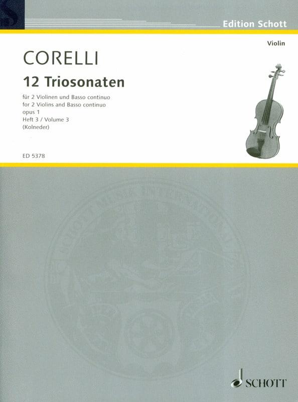 12 Triosonaten op. 1 - Bd. 3 : Nr. 7-9 - 2 Violinen u. Bc - laflutedepan.com