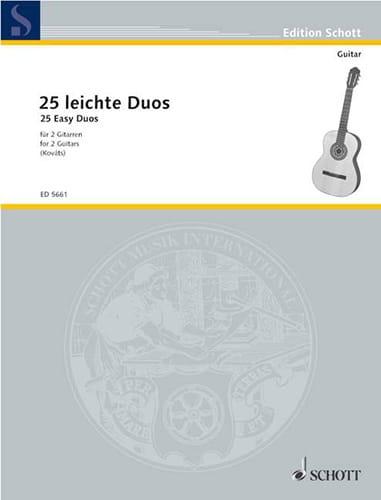 - 25 leichte Gitarren-Duos - Partition - di-arezzo.fr