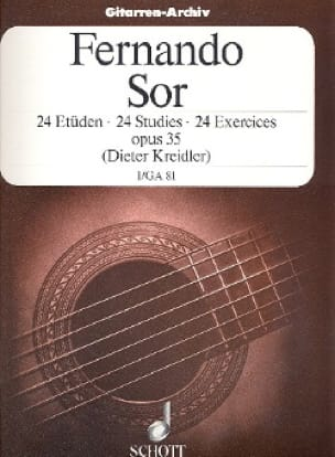 Fernando Sor - 24 Exercises op. 35 - Volume 1 - Partition - di-arezzo.com