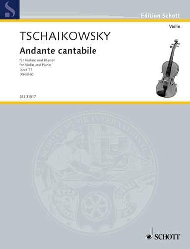 TCHAIKOVSKY - Andante cantabile, op. 11 - Partition - di-arezzo.com