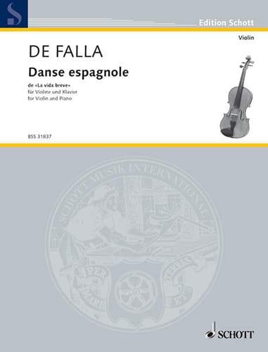 DE FALLA - Spanish dance of La vida breve - Partition - di-arezzo.co.uk