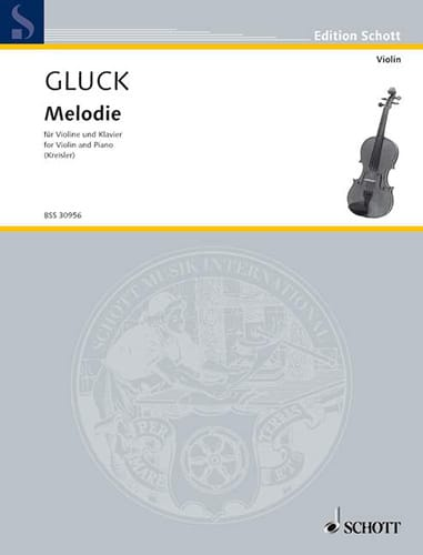 Mélodie - GLUCK - Partition - Violon - laflutedepan.com