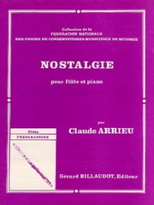 Claude Arrieu - Nostalgia - Partition - di-arezzo.co.uk