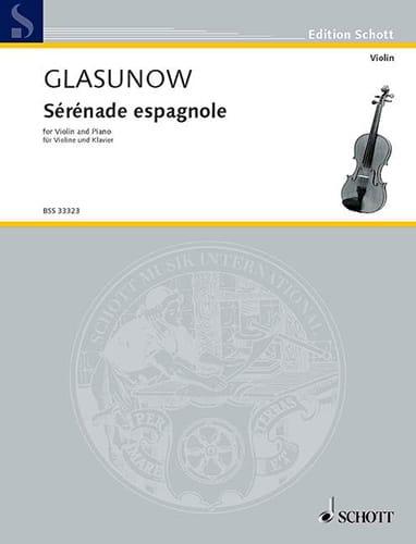 Sérénade espagnole Kreisler - Alexandre Glazounov - laflutedepan.com