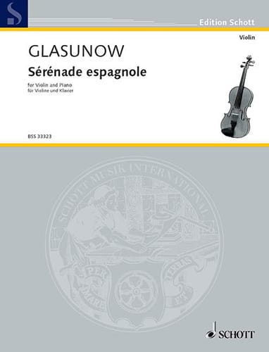 Alexandre Glazounov - Spanische Serenade Kreisler - Partition - di-arezzo.de