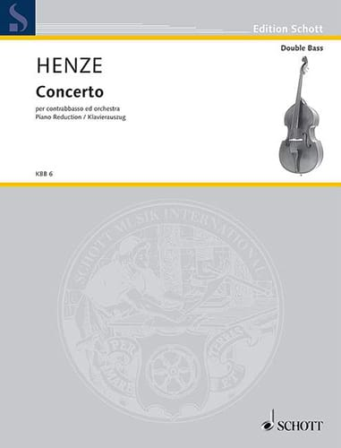 Hans Werner Henze - Concerto for double bass - Partition - di-arezzo.co.uk