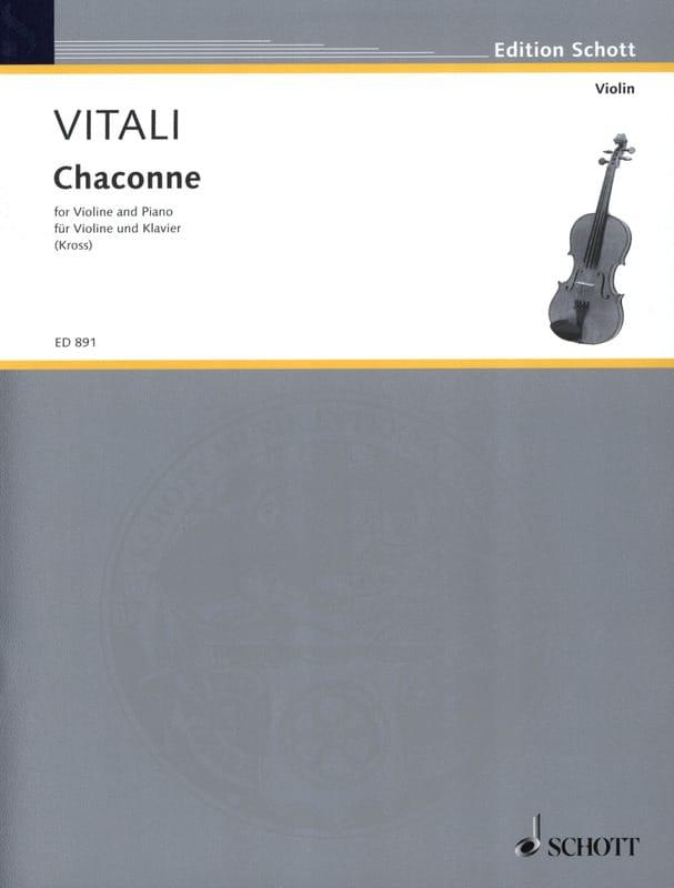 Chaconne - Tommaso Antonio Vitali - Partition - laflutedepan.com