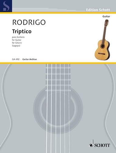 Joaquín Rodrigo - Triptico - Partition - di-arezzo.co.uk