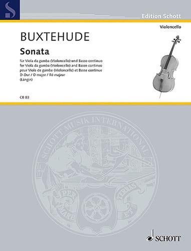 Sonata D-Dur -Cello Klavier - BUXTEHUDE - laflutedepan.com