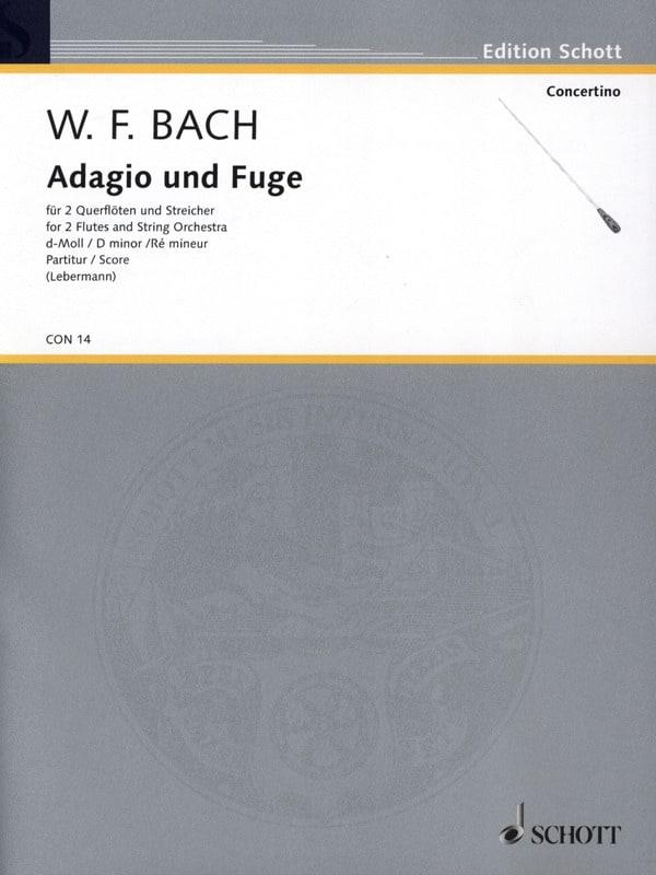 Adagio und Fuge d-moll, Falck 65 - 2 Querflöte Streicher - laflutedepan.com