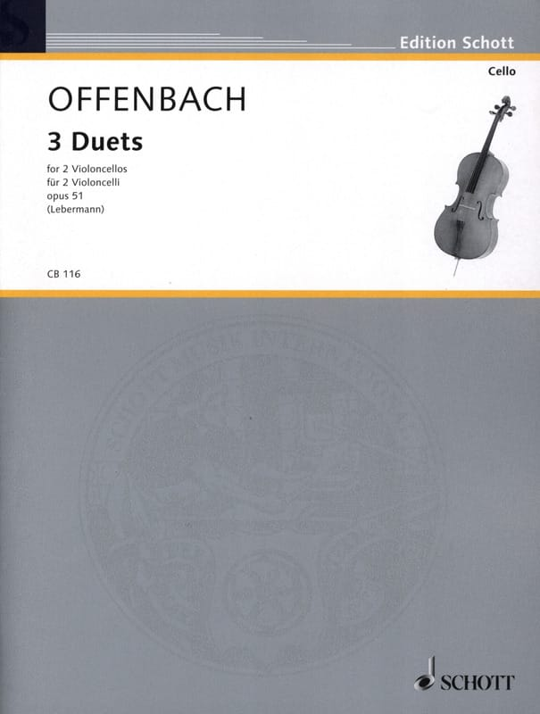 Jacques Offenbach - 3 Duette op. 51 - Partition - di-arezzo.com
