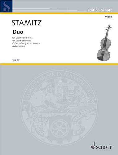 Duo C-Dur - Violine und Viola - STAMITZ - Partition - laflutedepan.com