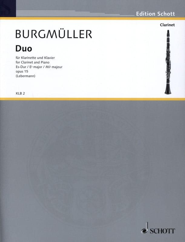 Duo Es-Dur op. 15 - Norbert Burgmüller - Partition - laflutedepan.com