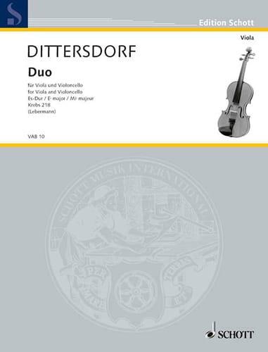 Duo Es-Dur Krebs 218 - Carl Ditters von Dittersdorf - laflutedepan.com