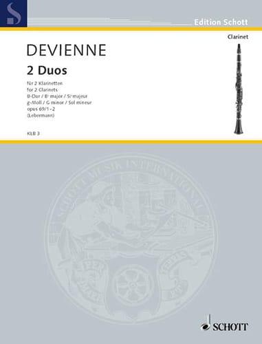 2 Duos op. 69 1-2 B-Dur / g-moll - 2 Klarinetten - laflutedepan.com