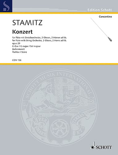 Flöten-Konzert G-Dur op. 29 - Partitur - STAMITZ - laflutedepan.com