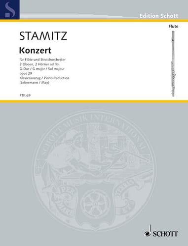Carl Stamitz - concerto in G major Op 29 flute and piano - Partition - di-arezzo.com