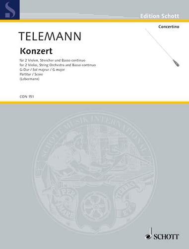 Concerto pour 2 Altos En Sol Majeur - TELEMANN - laflutedepan.com