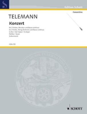 TELEMANN - Konzert G-Dur Sol M. - Matériel - Partition - di-arezzo.fr