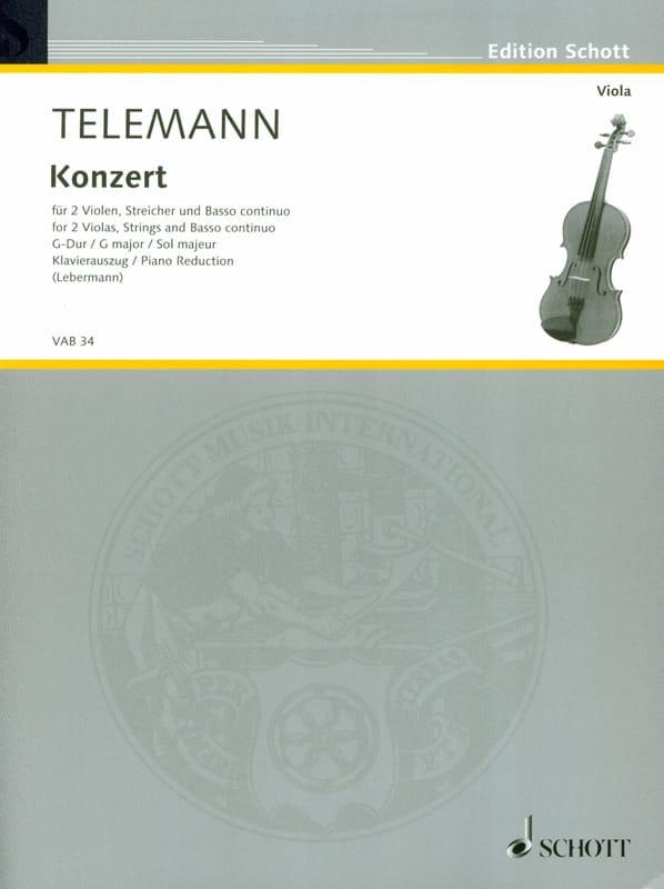 Konzert G-Dur -2 Violen Klavier - TELEMANN - laflutedepan.com