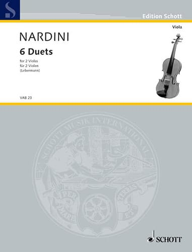 6 Duets - 2 Violas - Pietro Nardini - Partition - laflutedepan.com