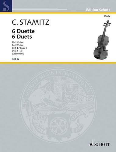 6 Duette, Heft 1 - STAMITZ - Partition - Alto - laflutedepan.com