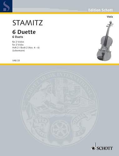 Carl Stamitz - 6 Duette, Heft 2 - Partition - di-arezzo.co.uk