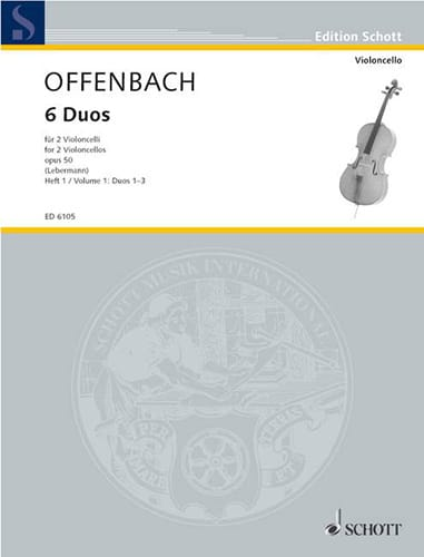 Jacques Offenbach - 6 Duos Op. 50 Heft 1 1-3 - Partition - di-arezzo.com