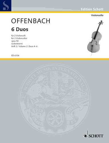 Jacques Offenbach - 6 Duos op. 50, Heft 2 4-6 - Partition - di-arezzo.com