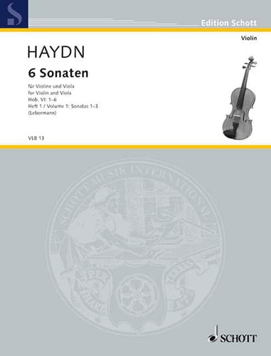 HAYDN - 6 Sonaten Hob. 6 - Heft 1: No. 1-3 - Partition - di-arezzo.co.uk