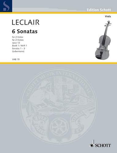 6 Sonatas op. 12, Volume 1 - 2 Violas - LECLAIR - laflutedepan.com