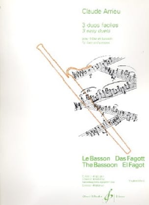 Trois duos faciles - Flûte basson - Claude Arrieu - laflutedepan.com