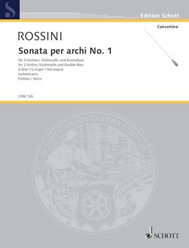 Gioacchino Rossini - Sonata per archi No. 1 G-Dur - Partitur - Partition - di-arezzo.co.uk